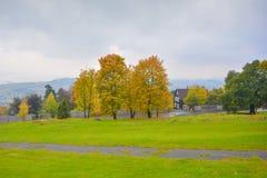 在2015年春天颜色在一个这样季节期间的奥斯陆挪威 免版税图库摄影