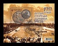 在1913年第1次俄国奥运会的100年在基辅,大约2013年, 免版税图库摄影