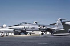 在1956年美国空军洛克希德在Palmdale的F-104A 56-0731 免版税图库摄影