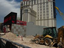 在2009年行星好莱坞旅馆和赌博娱乐场重建,拉斯维加斯 图库摄影