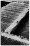 在90度的浮方船 图库摄影