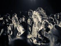 在仪式的玛雅长辈 库存图片