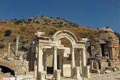 在以弗所,土耳其的罗马废墟 免版税图库摄影