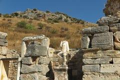 在以弗所,土耳其的罗马废墟 图库摄影