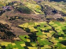 在贡德尔,埃赛俄比亚的高地附近的风景 免版税库存照片
