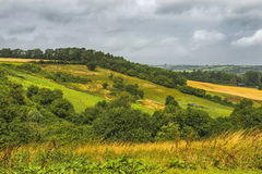 在巴恩城市的附近风景看法在萨默塞特,英国 库存照片