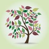 在幻想样式的秋天树 免版税库存图片