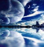 在幻想行星的风景 库存例证