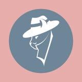 在黑手党帽子的匪徒猫 免版税库存照片