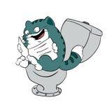 在洗手间的猫 免版税图库摄影
