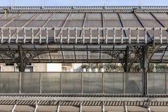 在维托里奥Emanuele II画廊的屋顶的风景路线 Highline画廊,风雨棚艺术nouveau,米兰,伦巴第,意大利 库存照片