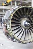在维护期间的大飞机引擎 图库摄影