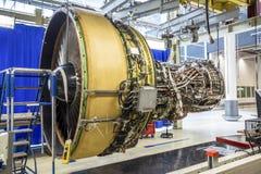 在维护期间的大飞机引擎 免版税库存照片