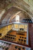 在费拉城堡的保留的内部霍尔 免版税库存照片