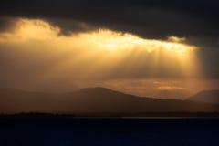 在巴拉望岛的日落 免版税库存照片