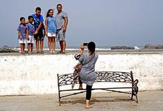 在索维拉的家庭照片 免版税库存图片