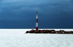 在巴拉顿湖的风暴 库存照片