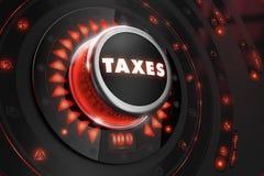 在黑控制台的税控制器 免版税图库摄影