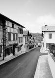 在巴斯克镇La巴斯蒂达Clairence的古老街道 免版税库存照片
