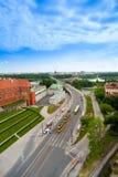 在维斯瓦的桥梁在华沙 图库摄影