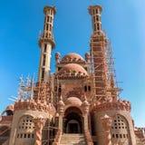 在2012年新的清真寺建设中 西奈即假货el回教族长, 免版税库存照片