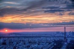 在巴黎日落 库存照片