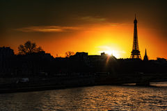 在巴黎日落 免版税图库摄影