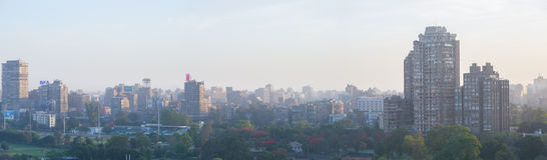 在黄昏的开罗地平线 免版税库存图片