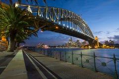 在黄昏的悉尼地平线 库存照片