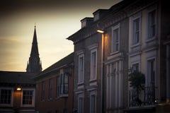 在黄昏的温彻斯特地平线 免版税图库摄影