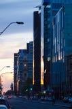 在黄昏的碎片街道,阿德莱德 免版税库存图片