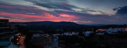 在黄昏的美好的天空风景 库存图片