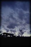在黄昏的野餐 库存图片