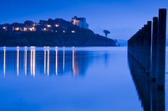 在黄昏的Anguillara 库存照片