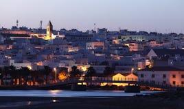在黄昏的Conil de la弗隆特里。西班牙 库存图片
