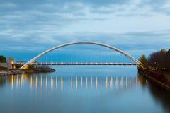 在黄昏的Humber桥梁 免版税库存照片