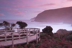 在黄昏的Maingon海湾 库存图片