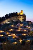 在黄昏的Montefrio,格拉纳达省,西班牙 库存图片
