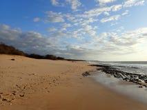 在黄昏的Pahohaku海滩 免版税库存图片