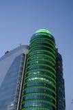 在黄昏, AZCA的现代大厦是m一个现代商业区  库存图片