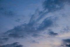 在黄昏以后的蓝天 免版税库存照片