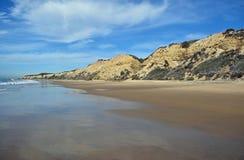 在水晶小海湾国家公园,南加州的海岸线 库存图片