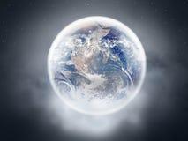 在水晶球里面的地球 库存图片