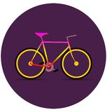 在黑暗的五颜六色的自行车 免版税库存图片