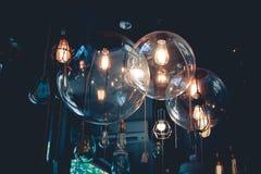 在黑暗的口气的灯 免版税图库摄影