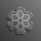 在黑暗的坛场圆的装饰品背景建筑回教纹理设计的伊斯兰教的3d 能为小册子使用 向量例证