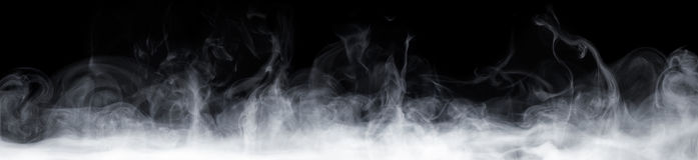 在黑暗的抽象烟