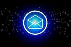 给在黑暗的抽象背景的象-通信概念发电子邮件 免版税库存图片