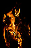在黑暗的火 免版税库存图片
