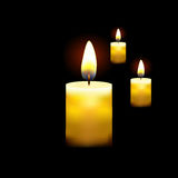 在黑暗的背景现实传染媒介例证的蜡烛 库存照片